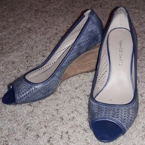 FRANCO SARTO blue wedges